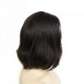 Jewish Wigs Kosher Wigs Blunt Short Bob Wig 100% Double Drawn European Human Hai 2