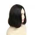 Jewish Wigs Kosher Wigs Blunt Short Bob Wig 100% Double Drawn European Human Hai 4