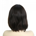 Jewish Wigs Kosher Wigs Blunt Short Bob Wig 100% Double Drawn European Human Hai 5