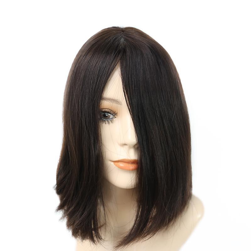 Short Bob Silk Top Jewish Wig Double Drawn European Human Hair Kosher Wig 1