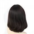 Short Bob Silk Top Jewish Wig Double Drawn European Human Hair Kosher Wig 3