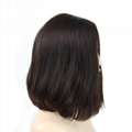 Short Bob Silk Top Jewish Wig Double Drawn European Human Hair Kosher Wig 5