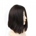 Short Bob Silk Top Jewish Wig Double Drawn European Human Hair Kosher Wig 6