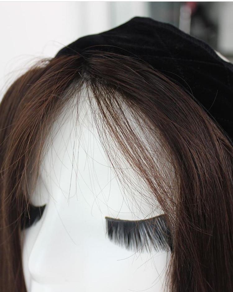 Stock European Virgin Hair Lace Wig Grips Headband With Hair  1
