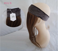 Stock All Color Human Hair Lace Wig Grips Headband With Hair 3