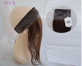 Stock All Color Human Hair Lace Wig Grips Headband With Hair 5