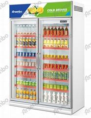 雅紳寶 雙門玻璃門冷櫃 飲料冷飲冷藏展示櫃風冷