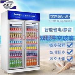 雅紳寶雙門風冷 飲料冷飲冷藏展示櫃風冷1