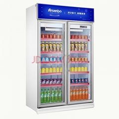 雅紳寶雙門風冷 飲料冷飲冷藏展示櫃風冷2