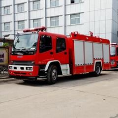 China Qingling Isuzu 6-Ton Foam and Water Fire Truck