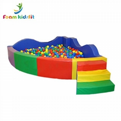 High quality colorful big foam  indoor soft play ball pit kid's ball pool for