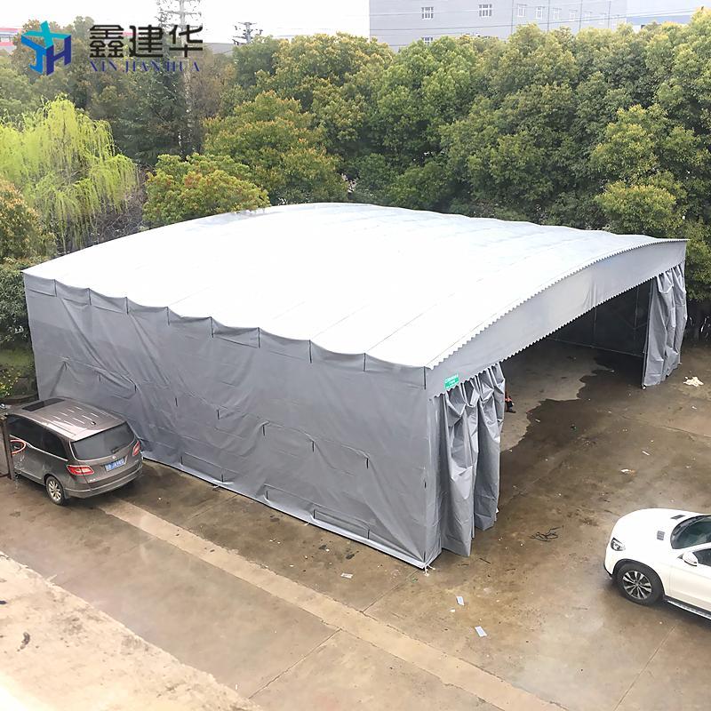 倉庫雨棚蘇州廠家直銷伸縮噴漆房雨篷 5