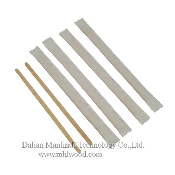 Disposable tableware wooden coffee stirrer 1