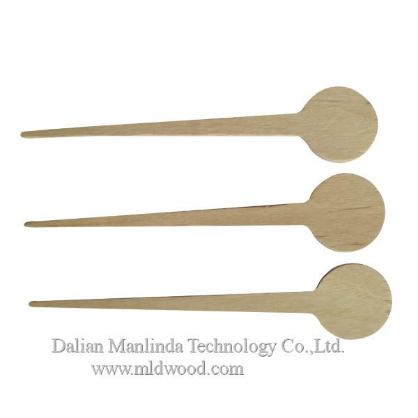 Disposable tableware wooden coffee stirrer 4