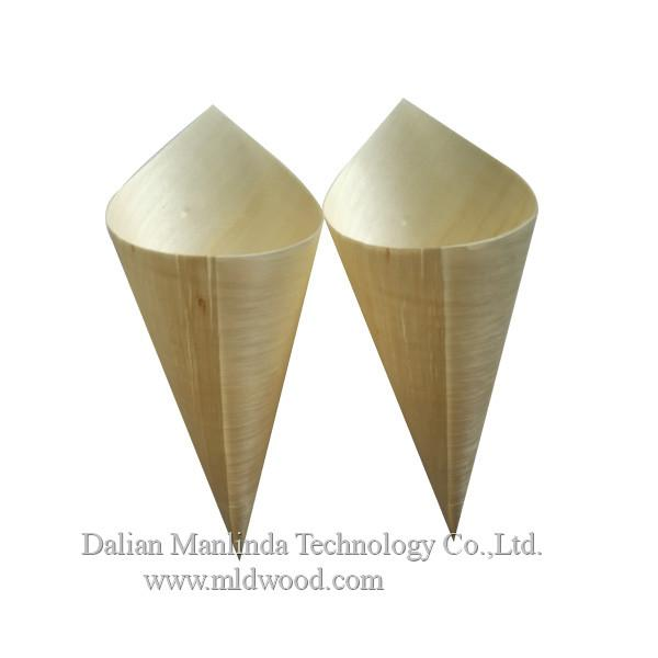 Wooden cone disposable tableware 2