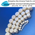 95% ZrO2 Cylinder high quality Zirconium grinding ceramic media