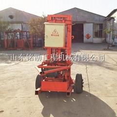 輕型履帶式水井鑽機 小型樁基基礎打孔機 電纜線井鑽井機