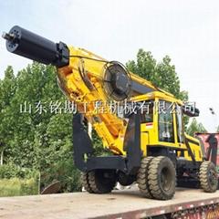 移動快速180型輪式旋挖鑽機 15米大扭矩灌注樁地基施工鑽孔