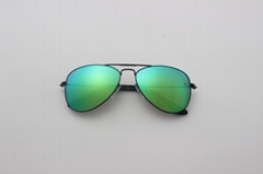 Cai Ray original kids sunglasses CR9506 201/3R black/green flash lens 50mm UV400