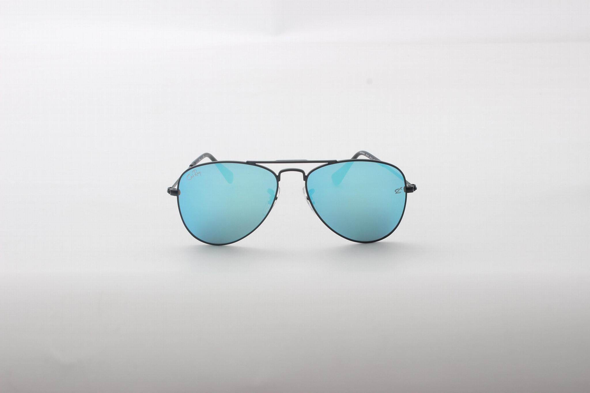 Cai Ray original kids sunglasses CR9506 201/5S black/ blue flash lens 50mm UV400