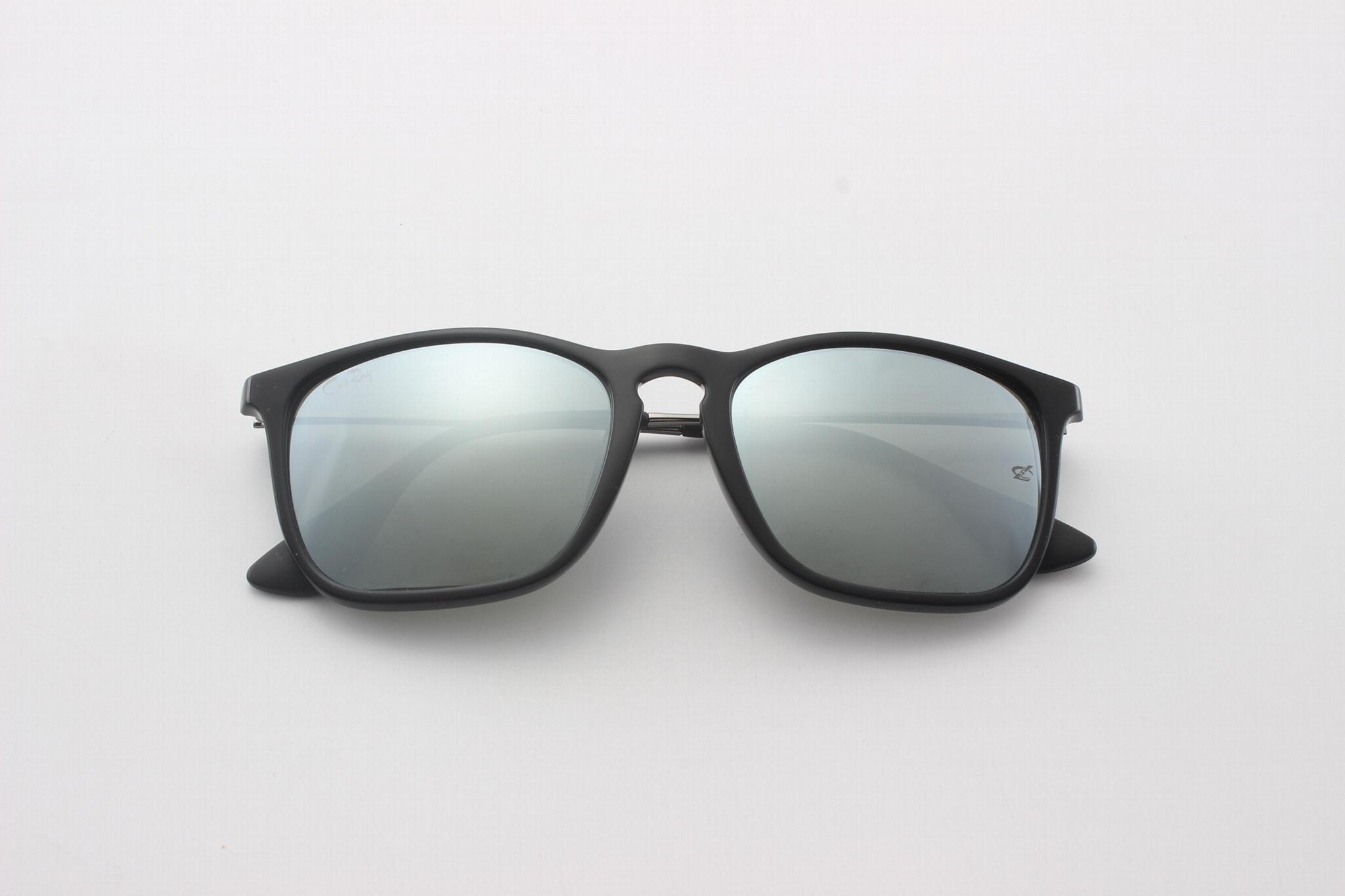 Cai Ray original Chris sunglasses CR4187 601/30 black/gray silve flash lens 54mm