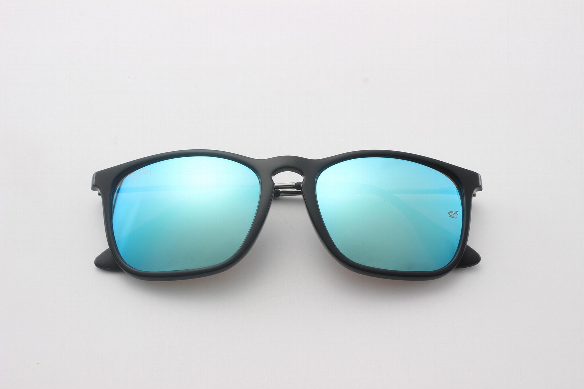 Cai Ray original Chris sunglasses CR4187 601/55 black/blue flash lens 54mm