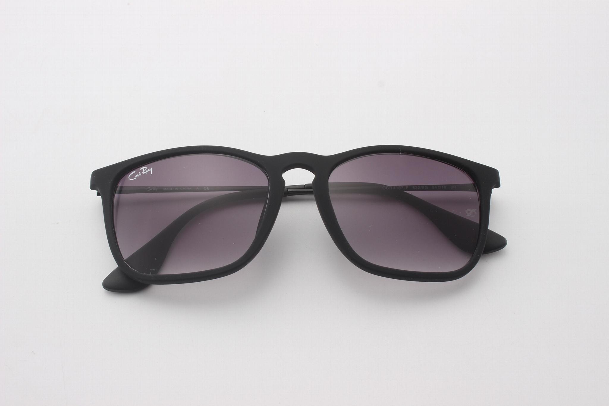 Cai Ray original Chris sunglasses CR4187 622/8G black/gradient gray lens 54mm