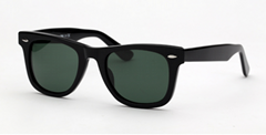 OEM brand sunglasses 2140 901F black/G15 wayfarer 50/54mm 12 big declined angle