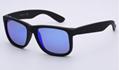 OEM brand sunglasses 4165 622/55 Justin 54mm matte black/blue flash mirror lens