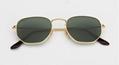 OEM brand sunglasses 3548N 001 51mm 54mm Hexagonal Gold Frame G15 flatlens UV400