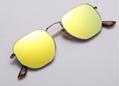 OEM brand sunglasses 3548N 001/93 51mm Hexagonal Golden Frame golden flash lens