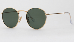 OEM brand sunglasses 3447 001 round metal golden/G15 lens 50mm for unisex UV400  (Hot Product - 1*)