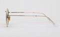 OEM brand sunglasses 3447 001 round metal golden/G15 lens 50mm for unisex UV400