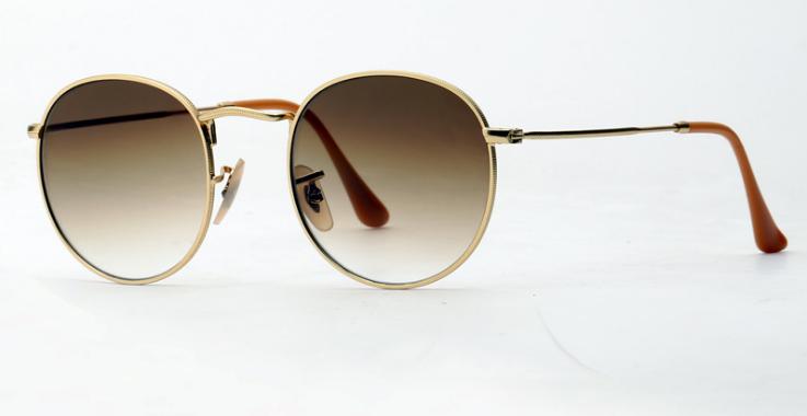 OEM brand sunglasses 3447 002/32, 3447 001/51 round metal gradient gray, brown