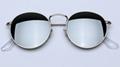 OEM brand sunglasses 3447 112/17, 3447 112/19, 3447 112/Z2 round metal flash len