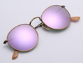 OEM brand sunglasses 3447 167/4K round metal lilac flash lens 50mm bronze fram