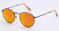 OEM brand sunglasses 3447 112/69 round metal orange flash lens 50mm golden fram