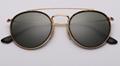 OEM brand sunglasses 3647N 001 double bridge sunglasses golden/G15 lens UV400