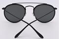 OEM brand sunglasses 3647N 002/R5 double bridge sunglasses black/G15 lens UV400
