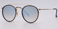 OEM brand sunglasses 3647N 001/9U double bridge Gold/gradient silver mirror lens