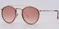 OEM brand sunglasses 3647N 001/7O double bridge Gold/gradient pink brown flash