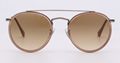 OEM brand sunglasses 3647N 9070/51 double bridge sunglass bronze/gradient brown