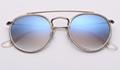 OEM brand sunglasses 3647N 9068/3F double bridge sunglass bronze/gradient blue
