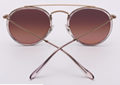 OEM brand sunglasses 3647N 9069/A5 double bridge sunglass bronze/gradient red
