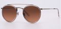 OEM brand sunglasses 3647N 9069/A5 double bridge sunglass bronze/gradient red