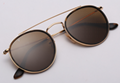 OEM brand sunglasses 3647N 001/57 double bridge sunglasses golden/brown polarize