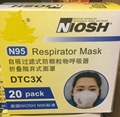 20 pcs/lot NIOSH N95 Particulate Respirator Face Mask