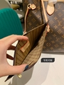LV louis vuitton neverfull shopping bag grey flower classic vuitton reps cheap