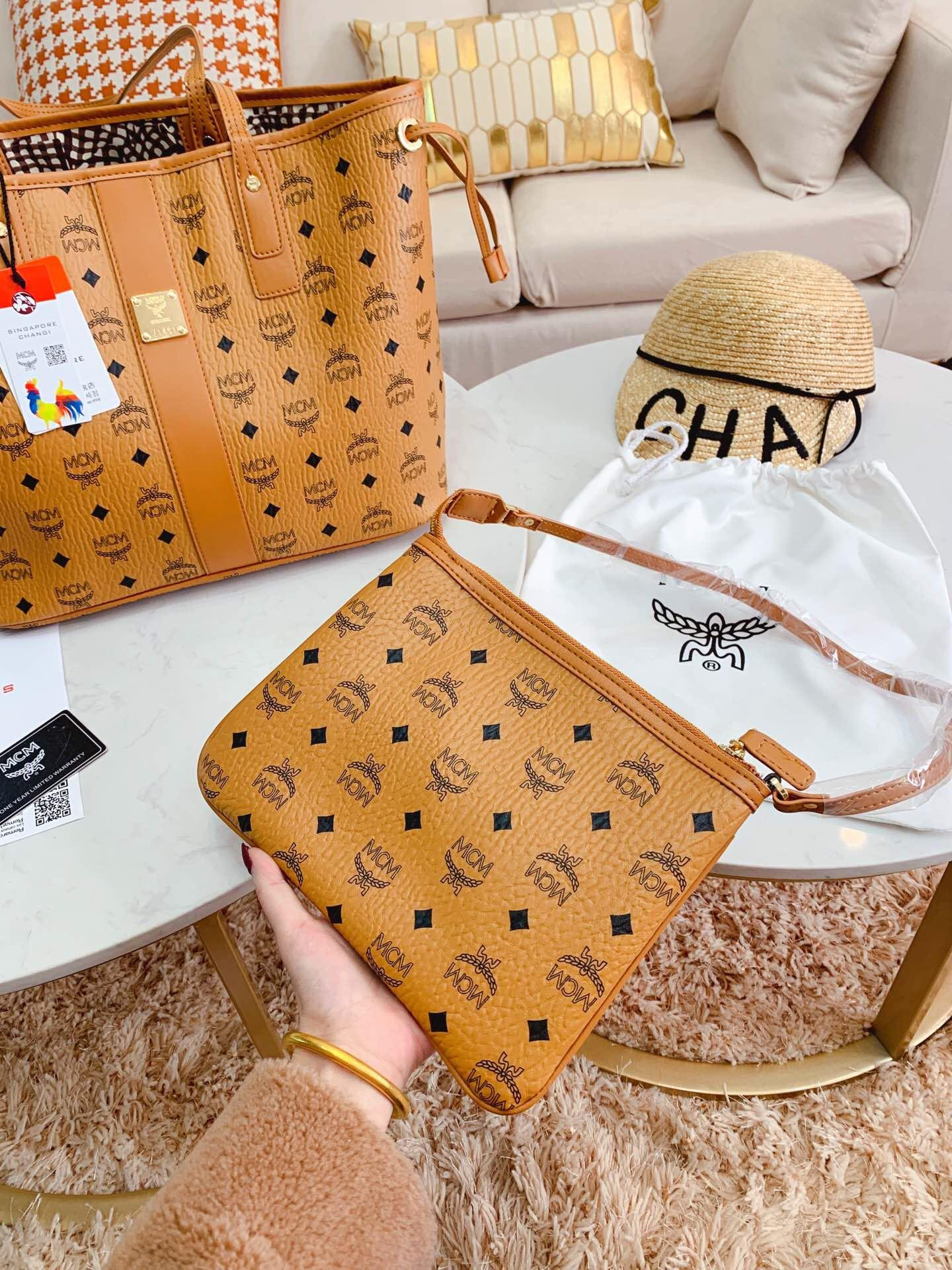 MCM replica shopping bag