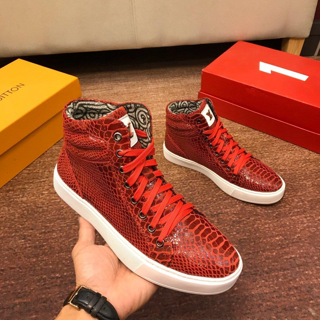 red louis vuitton shoes